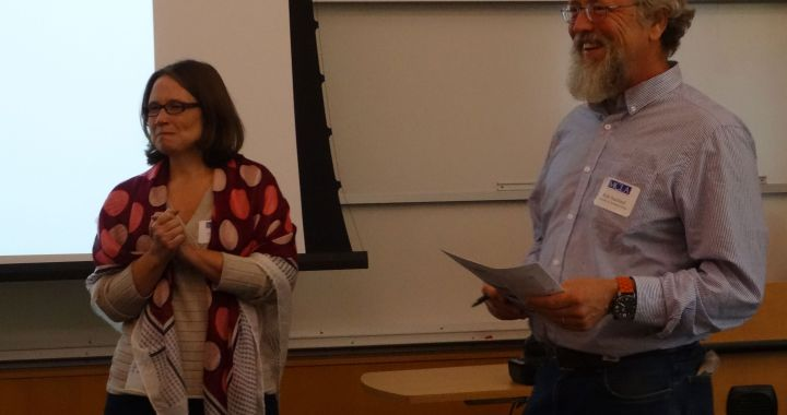 Tara Mann and Rob Sanford at SCI-New England Meeting