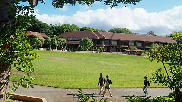 Kapiolani Community College Great Lawn. Photo credit: Louise Yamamoto