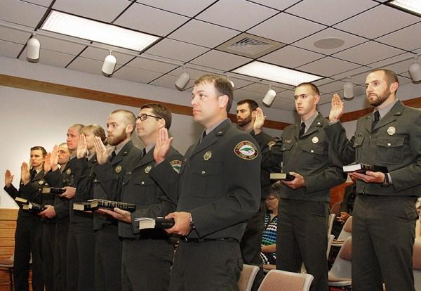 New park rangers receive commissions as law enforcement ...