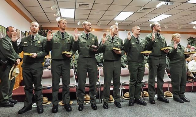Seven park rangers receive law enforcement commissions ...