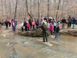Girl scouts visit William B. Umstead State Park.