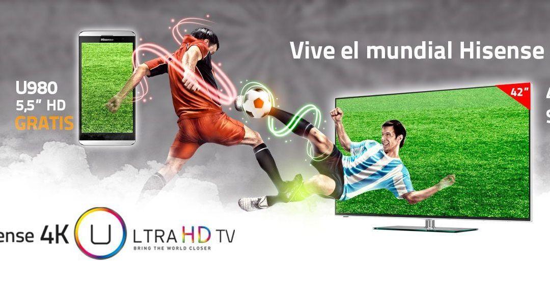 Promoción Hisense TV 4k + Smartphone gratis