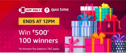 (Answer Added) Amazon Quiz Time Daily - Today Amazon Quiz Answers (18 March) & Win Amazon Pay Balance