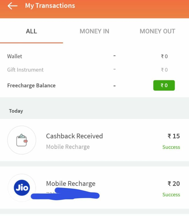 Freecharge - Get Free Recharge of Rs.15 For All Users