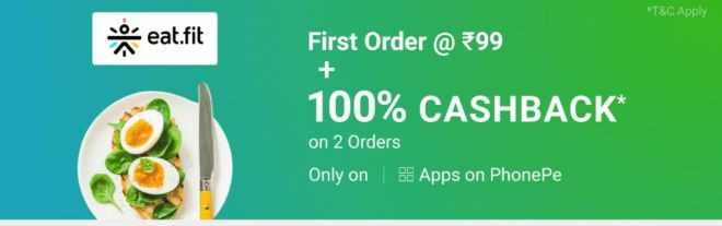 (भूख बढ़ाओ ) eat.fit Food Offer - Get Free Food Worth Rs.200 For All Users