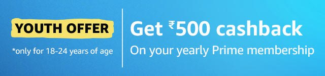 Amazon Prime Youth Offer - Buy Amazon Prime For 1 Year @₹499