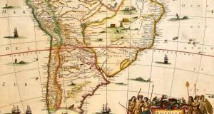 Mapa antigo do Brasil