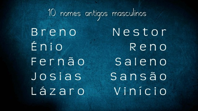 nomes masculinos