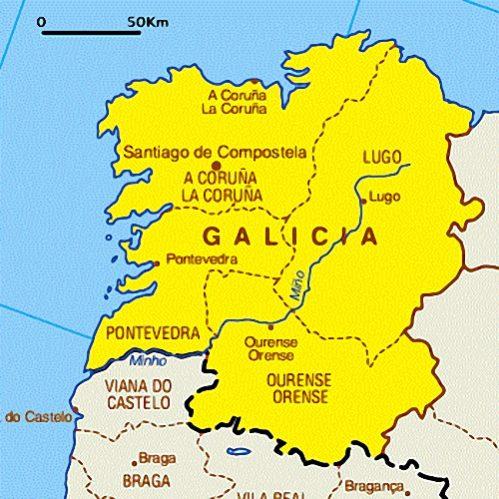 A Lingua Portuguesa No Mapa De Espanha Ncultura