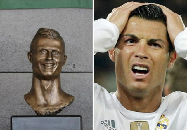 Cristiano Ronaldo tem novo busto que agora lhe faz justiça
