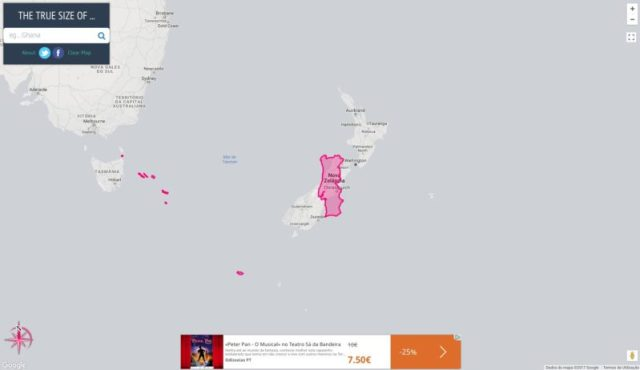O verdadeiro tamanho de Portugal em 22 mapas