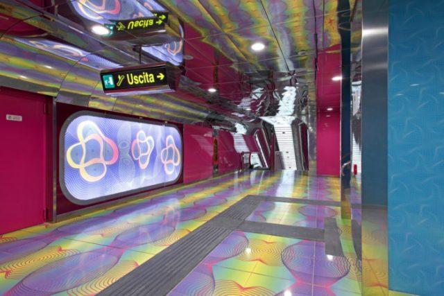 04 Estação da Universidade de Nápoles, Itália - © University of Naples