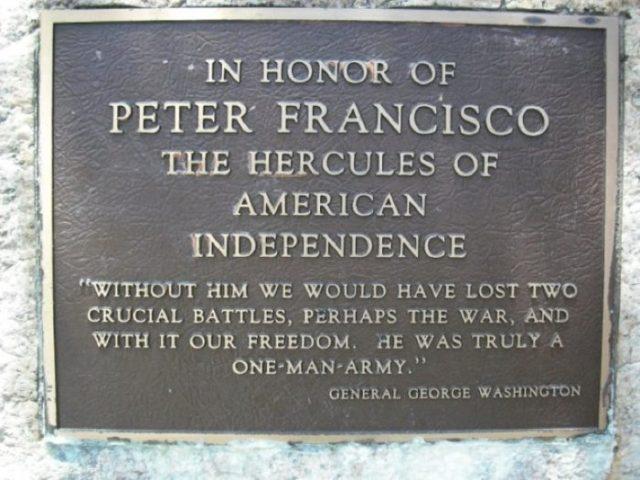 Peter Francisco, o herói português dos Estados Unidos da América
