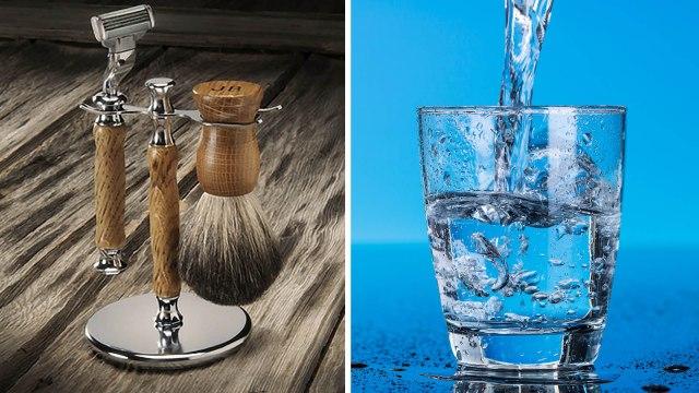 «Fazer a barba» e «copo de água» são erros de português?