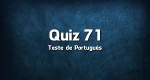 Quiz da Língua Portuguesa «71»