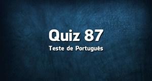 Quiz da Língua Portuguesa «87»