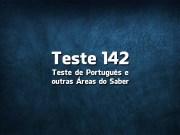 Teste de Língua Portuguesa «142»