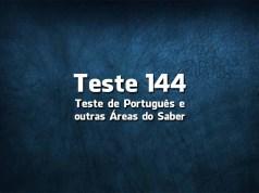 Teste de Língua Portuguesa «144»