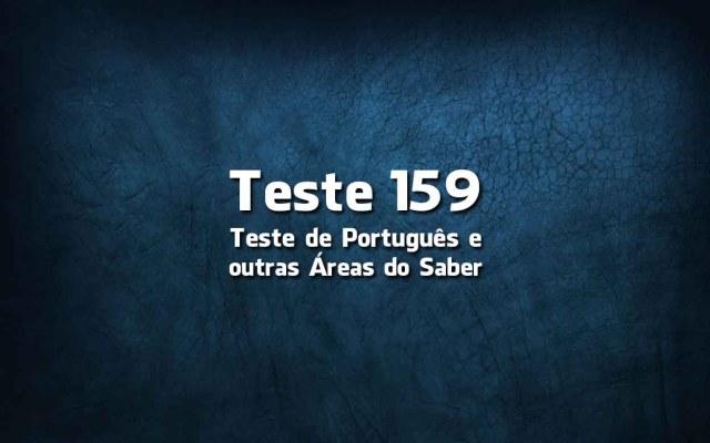 Teste de Língua Portuguesa «159»