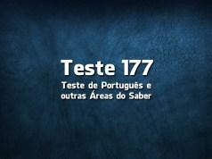 Teste de Português 177