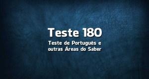 Teste de Português 180