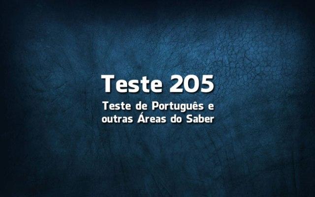 Quiz ou Teste de Português 205