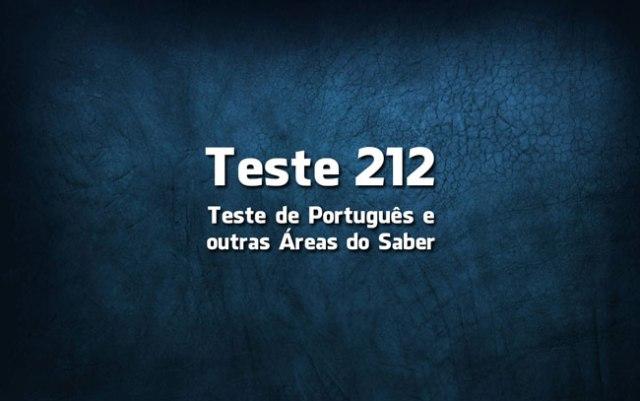 Quiz ou Teste de Português 212