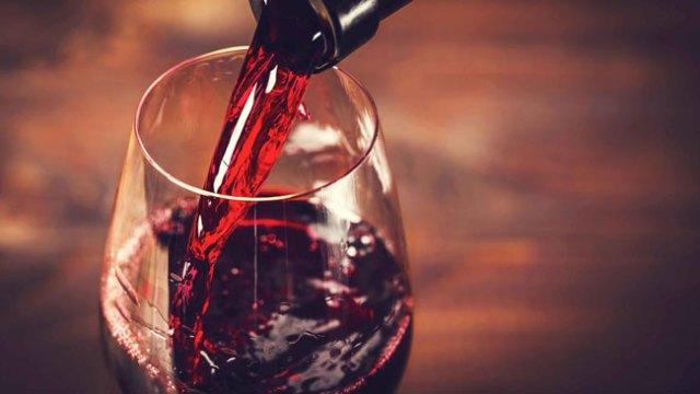 medida certa de vinho tinto