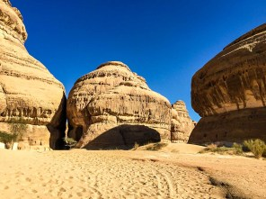 Madain Saleh entered a period of decline after it fell to the Romans in 104 AD. The trade routes melted away to a new, maritime route through the Red Sea. The defeated Nabataeans moved away completely, leaving their enigmatic carvings, chambers, and tunnels as the only signs they were ever there.