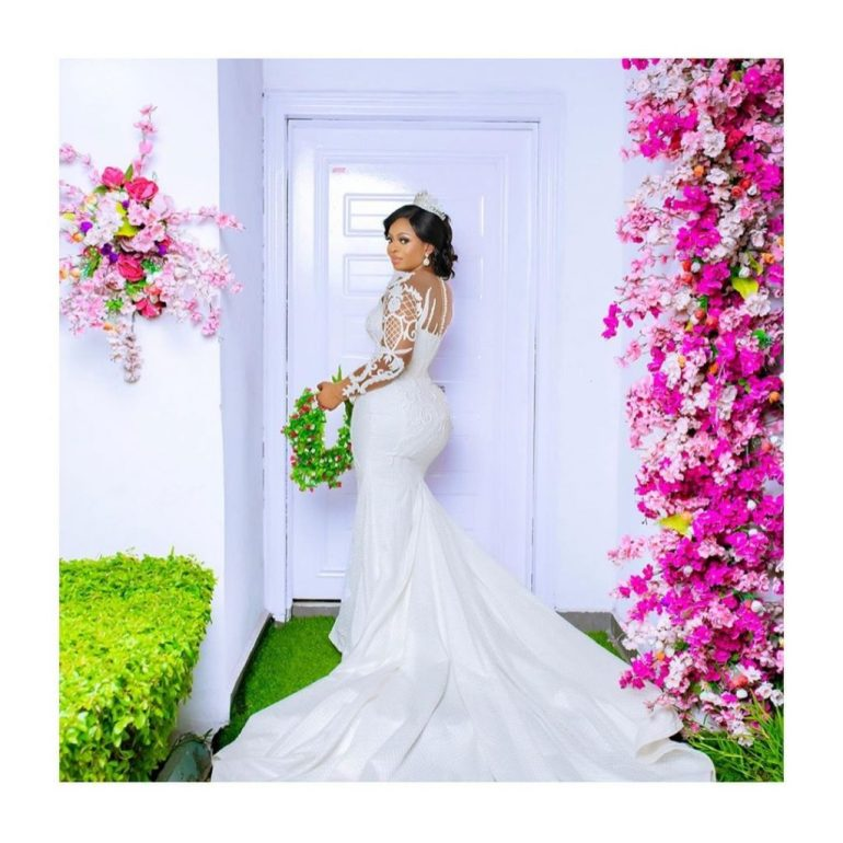 wedding dress with lace overlay april by kunbi