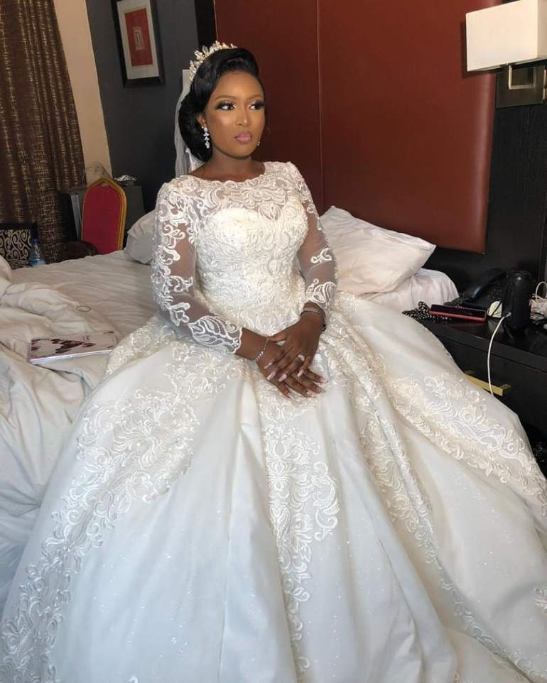 wedding dress with lace overlay la viva bridals
