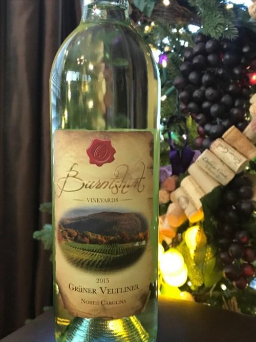 Grüner Veltliner from Burntshirt Vineyards in Hendersonville