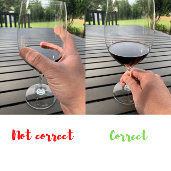 The Incorrect & Correct Way to Hold a Wine Glass