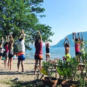 yoga sevrier lac d'Annecy