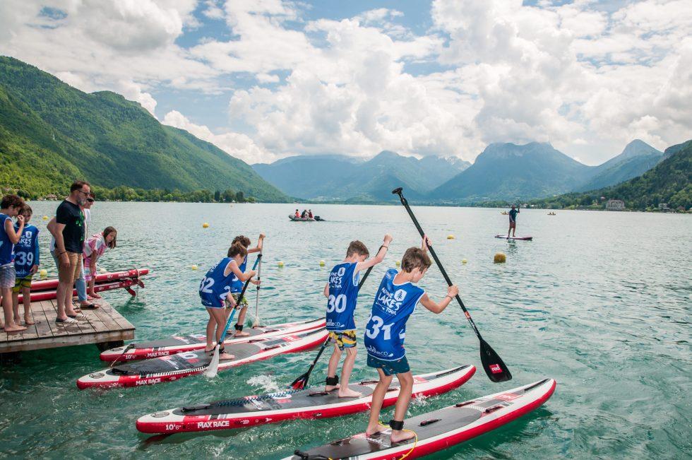 stage paddle pour les enfants au NCY SUP Lac d'Annecy