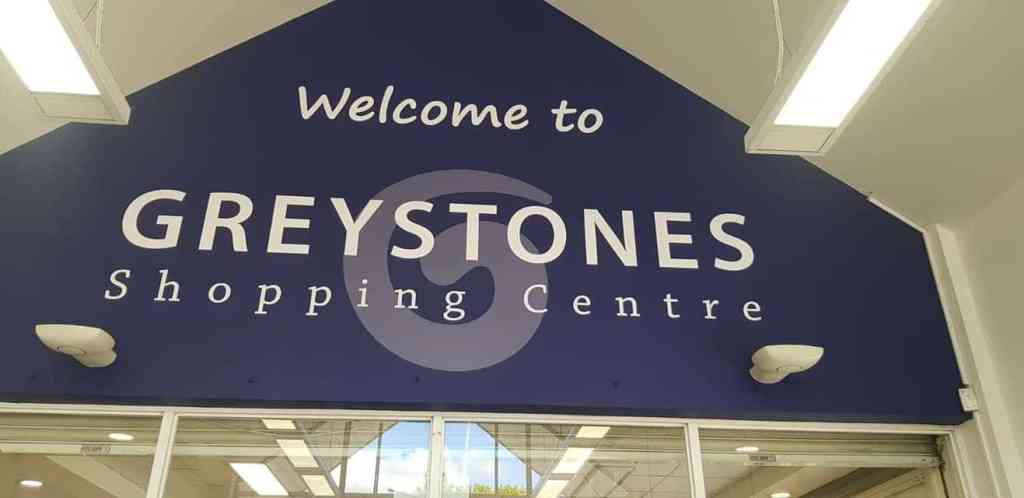 Shop Front Sign For Greystones Shopping Centre