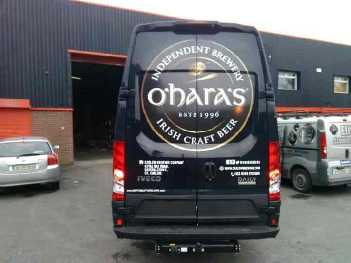 Van Wrapping Branding O'Hara's Irish Craft Beer