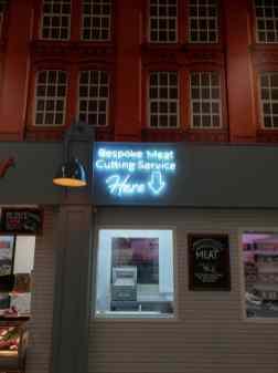 Illuminated Fascia Sign For Butchers Shop