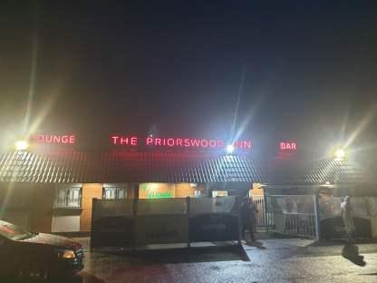 Illuminated Fascia Sign For The Priorswood Inn