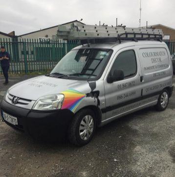 ColourMatch Decor Van Graphics with applied vinyl.