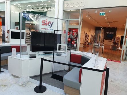 COVID 19 Protective Screens for Sky TV.