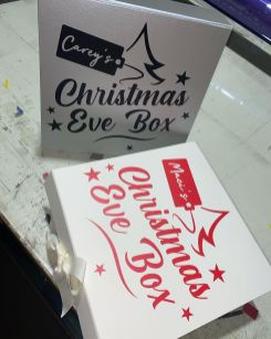 Personalised Christmas Eve boxes.