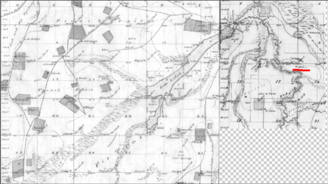 GLO maps 6s 2w, 6s 1w, depicting lake labish and associated wetlands in relation to Miller DLC, 1852