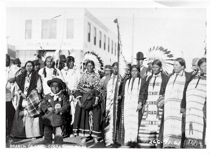 c1900 Native people at Fort Peck IR