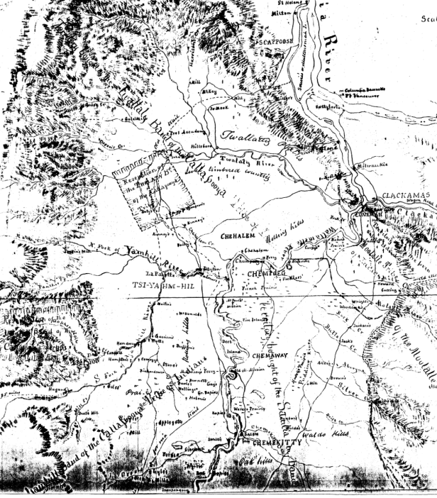 Portion of Gibbs Starling Map 1851