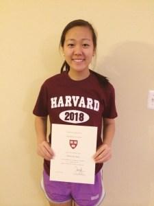 Minnie in Harvard crimson