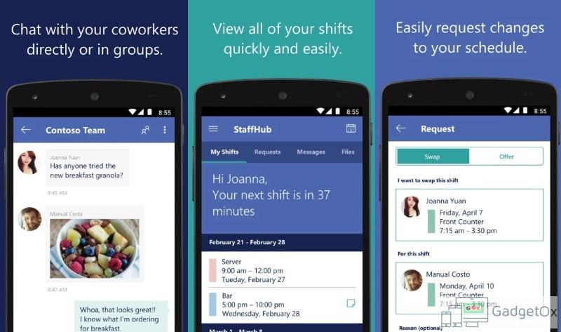 StaffHub app
