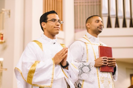 Newly ordained Deacon Andrew Gutierrez served his first mass as a deacon at a wedding on Saturday, May 19th