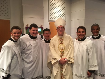 Atlanta Seminarians with Bishop Robert Barron at the 2018 Atlanta Eucharistic Congress.