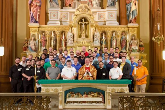 New seminarians attended Mass at the beautiful and historic St. Mary's Assumption Catholic Church in New Orleans.